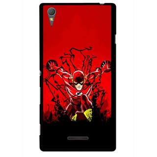 Snooky Printed Super Hero Mobile Back Cover For Sony Xperia T3 - Multicolour