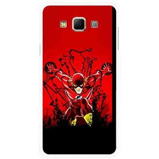 Snooky Printed Super Hero Mobile Back Cover For Samsung Galaxy E7 - Multicolour