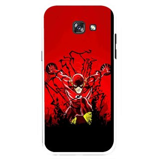 Snooky Printed Super Hero Mobile Back Cover For Samsung Galaxy A7 (2017) - Multicolour