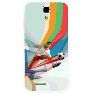 Snooky Printed Kick FootBall Mobile Back Cover For Micromax Canvas Juice A177 - Multicolour