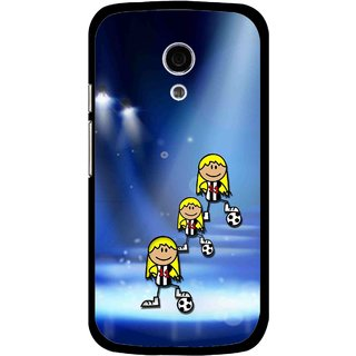 Snooky Printed Girls On Top Mobile Back Cover For Moto G2 - Multi