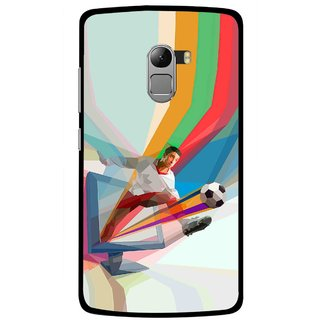 Snooky Printed Kick FootBall Mobile Back Cover For Lenovo K4 Note - Multicolour