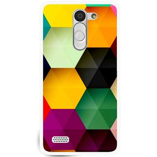 Snooky Printed Hexagon Mobile Back Cover For Lg L Fino - Multi