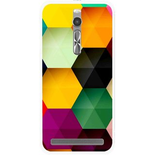 Snooky Printed Hexagon Mobile Back Cover For Asus Zenfone 2 - Multi