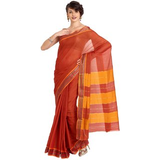 Sofi Women's Red Net Sari