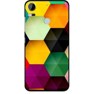Snooky Printed Hexagon Mobile Back Cover For HTC Desire 10 Pro - Multi