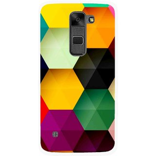 Snooky Printed Hexagon Mobile Back Cover For Lg Stylus 2 - Multi