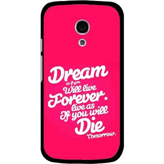 Snooky Printed Live the Life Mobile Back Cover For Moto G2 - Multi