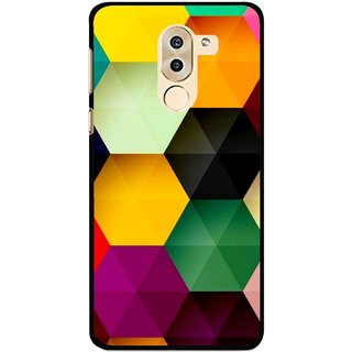 Snooky Printed Hexagon Mobile Back Cover For Huawei Honor 6X - Multi