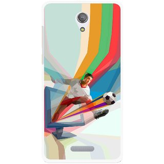 Snooky Printed Kick FootBall Mobile Back Cover For Gionee Marathon M4 - Multicolour
