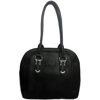 Rags Style PU Black Women Shoulder Bag