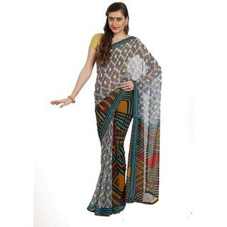 Sofi Women's Multicolor Georgette Sari