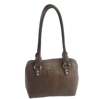 Rags Style PU Brown Women Shoulder Bag