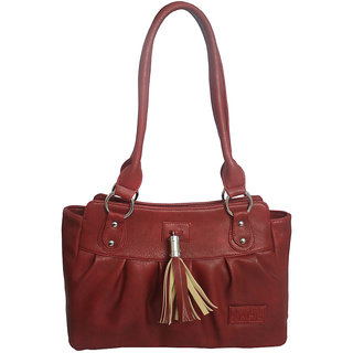 Rags Style PU Red Women Shoulder Bag