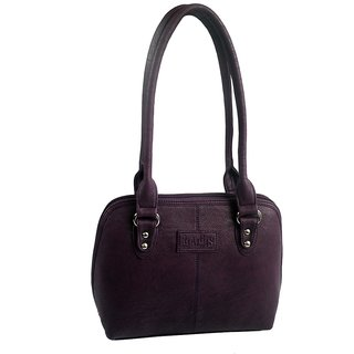 Rags Style PU Purple Women Shoulder Bag