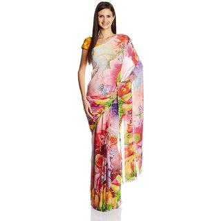 Sofi Women's Multicolored Chiffon Sari