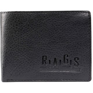 Rags Style Mens  Black Leather Wallet