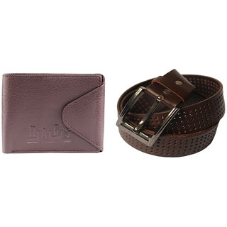 Rags Style Combo of Mens Belts  Wallet in Brown Colour