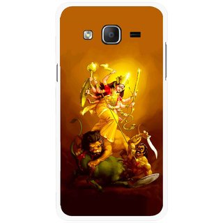 Snooky Printed Maa Durga Mobile Back Cover For Samsung Galaxy On7 - Multicolour