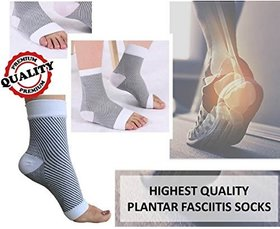 Importikaah All-Day Compression Socks For Plantar Fasciitis Pain Relief  Ankle Support -Sleeve Style - L/XL Size