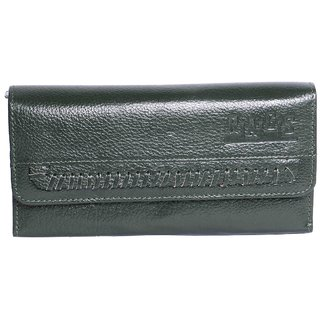 Rags Style Black Leather Clutch For Women