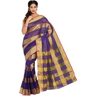 Sofi Women's Art Silk Purple Art Silk Sari