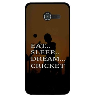Snooky Printed All Is Cricket Mobile Back Cover For Asus Zenfone 4 - Multicolour