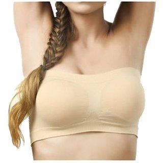 Gking Beige Lovely Tube Bra for women Size-M