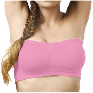 Pink Beauty shaper tube Bra for women Size-L