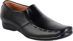 ShoeAdda Black Comfy Slip On Formal Shoes