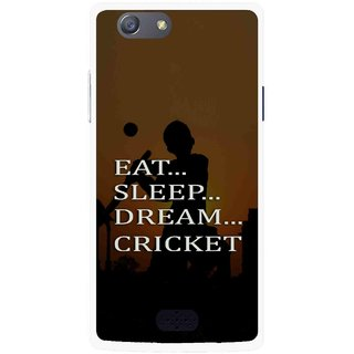 Snooky Printed All Is Cricket Mobile Back Cover For Oppo Neo 5 - Multicolour