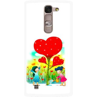 Snooky Printed Heart Plant Mobile Back Cover For Lg Magna - Multi