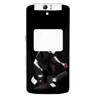 Snooky Printed Hep Boy Mobile Back Cover For Oppo N1 - Multi