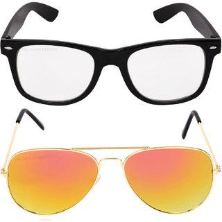 7e09b2db28 Buy Aligatorr Combo Of 2 Wayfarer Aviator Unisex Sunglasses gylltmeCRLK  Online - Get 81% Off