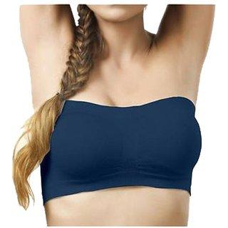 Gking Blue Yoga Tube Bra for Women Size-XL