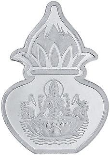 Sri Jagdamba Pearls 20 Grams 99.9%  Laxmi Kalash Silver Coin