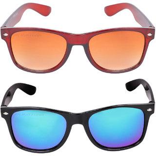 655bff74dac Buy Aligatorr Combo Of 2 Wayfarer Unisex Sunglasses kc bnkc merCRLK Online  - Get 81% Off