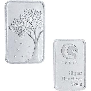 Sri Jagdamba Pearls 20 Grams 99.9 Silver Bar Coin