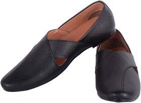 Aaiken Men's Black Casual Loafers