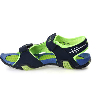 e8417a145a9 Buy Paragon Stimulus Sports Sandals for Men (Navy Blue   Green ...