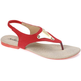 537f6e030 Buy Paragon Solea Plus Slingback Flats for Women (Red) Online - Get 25% Off