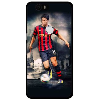 Snooky Printed Football Mania Mobile Back Cover For Huawei Nexus 6P - Multi