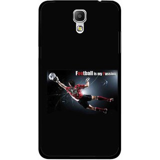 Snooky Printed Football Passion Mobile Back Cover For Samsung Galaxy Mega 2 - Multicolour
