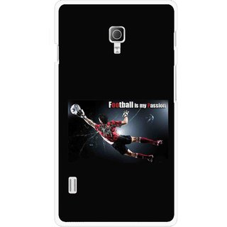 Snooky Printed Football Passion Mobile Back Cover For Lg Optimus L7 II P715 - Multicolour