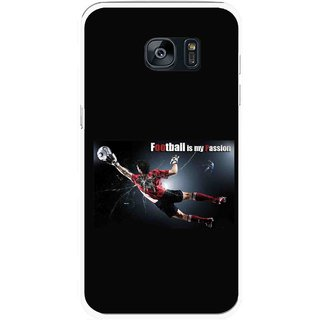 Snooky Printed Football Passion Mobile Back Cover For Samsung Galaxy S7 Edge - Multicolour