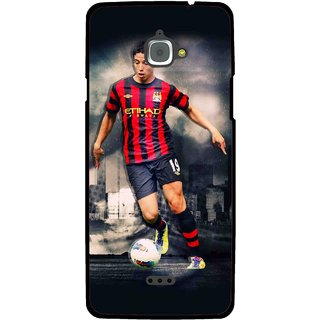Snooky Printed Football Mania Mobile Back Cover For Infocus M350 - Multi