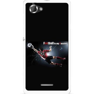 Snooky Printed Football Passion Mobile Back Cover For Sony Xperia L - Multicolour