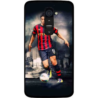 Snooky Printed Football Mania Mobile Back Cover For Lg G2 - Multi
