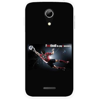 Snooky Printed Football Passion Mobile Back Cover For Micromax A114 - Multicolour