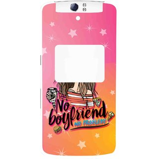 Snooky Printed No Boyfriend Mobile Back Cover For Oppo N1 - Multi